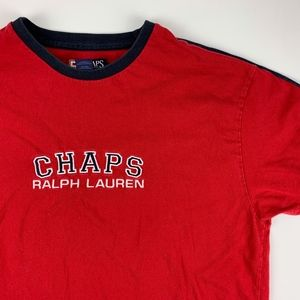 Chaps Ralph Lauren Embroidered Spell Out T-Shirt L